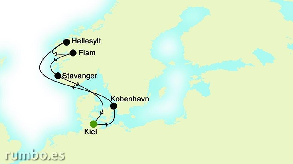 FIORDOS NORUEGOS desde Kiel