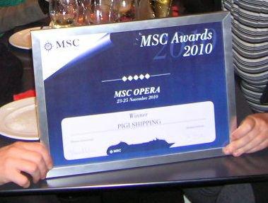 Premio miglior agenzia web Msc Crociere