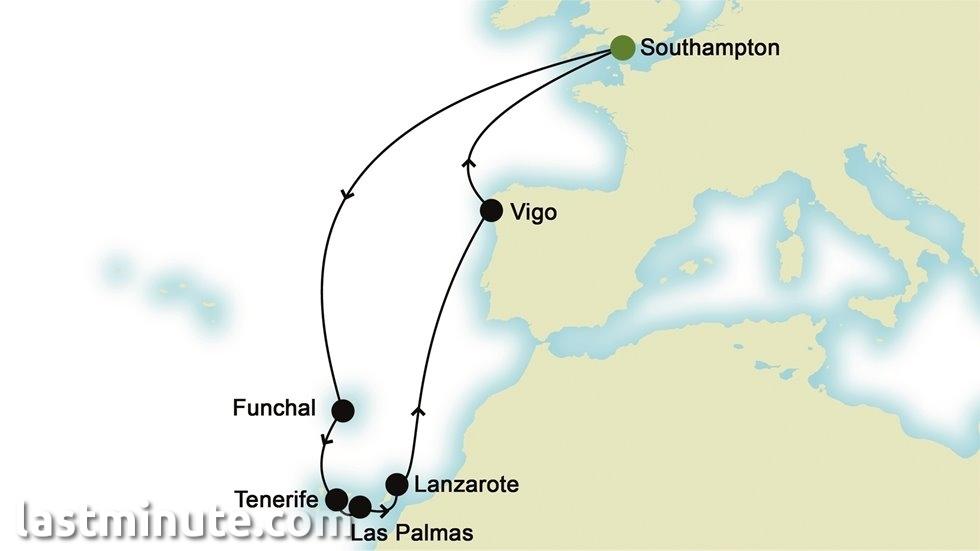 ÎLES CANARIES au départ de Southampton