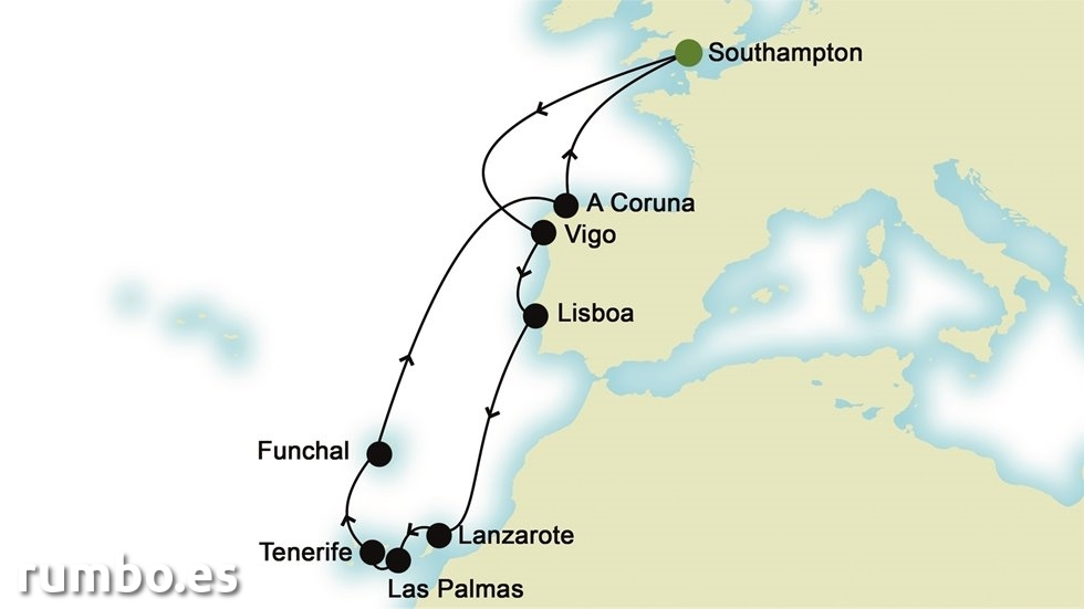 ISLAS CANARIAS desde Southampton