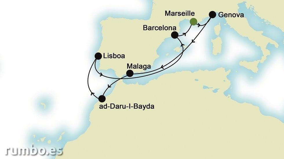 MEDITERRÁNEO DE ESTE A OESTE desde Marsella