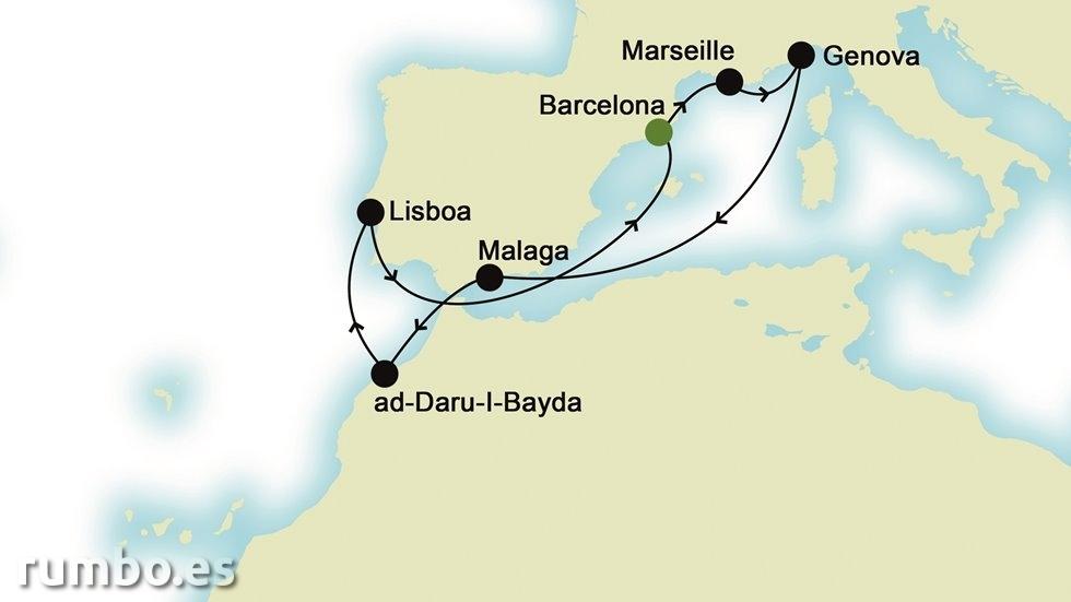 MEDITERRÁNEO DE ESTE A OESTE desde Barcelona