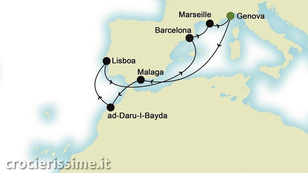 MEDITERRANEO DA EST A OVEST da Genova