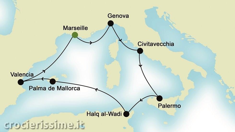MEDITERRANEO OCCIDENTALE da Marsiglia