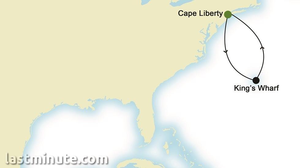 AMÉRIQUE DU NORD au départ de Cape Liberty