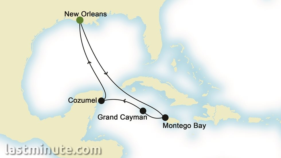 ÎLES CARIBÉENNES au départ de La Nouvelle-Orléans