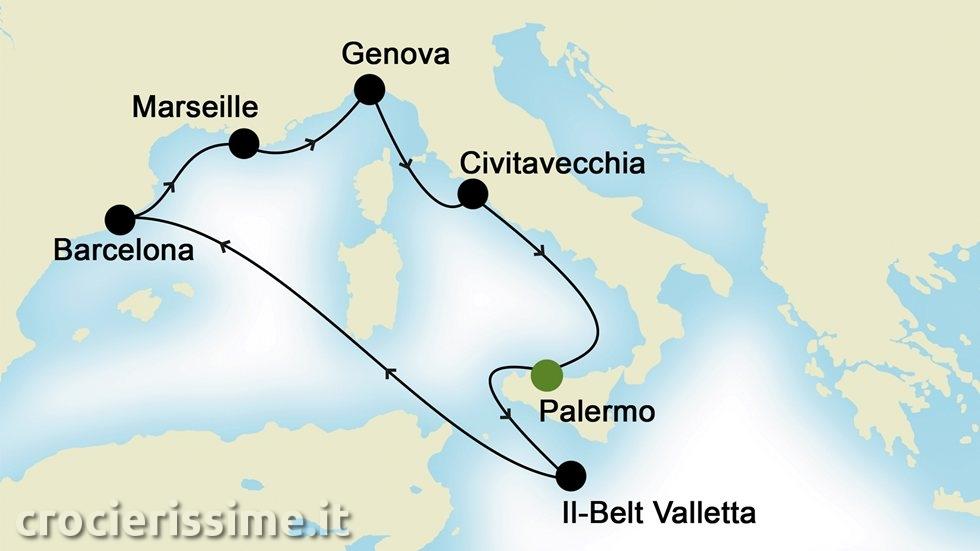 MEDITERRANEO OCCIDENTALE da Palermo