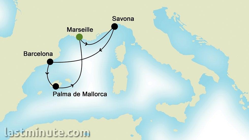 MÉDITERRANÉE OCCIDENTALE au départ de Marseille