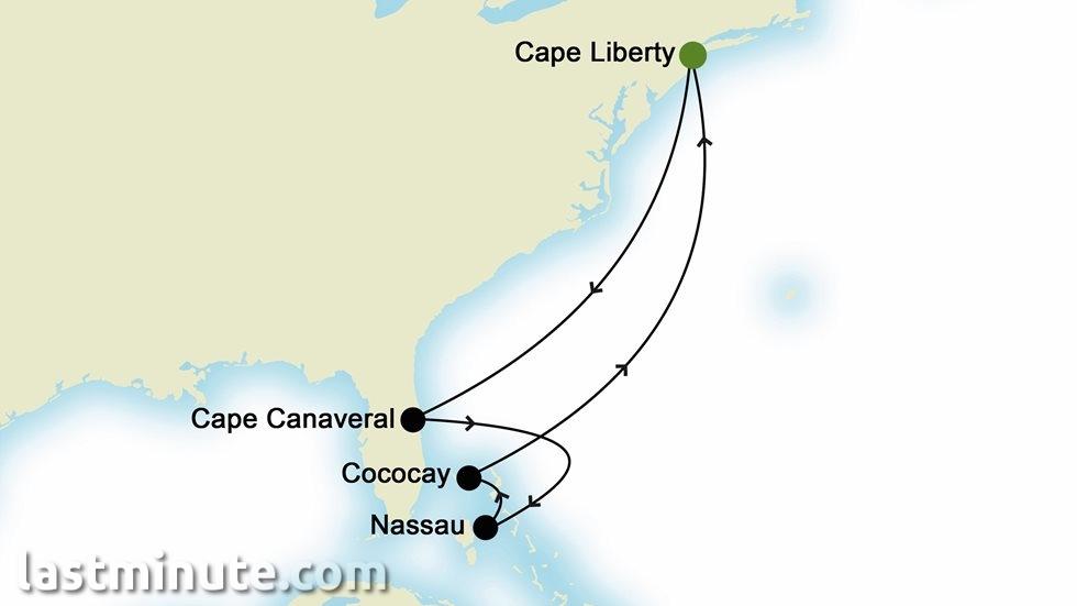 ÎLES CARIBÉENNES au départ de Cape Liberty